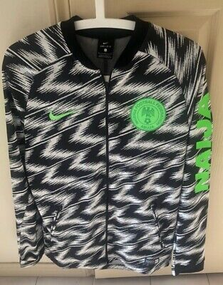 premium selection 78383 3b522 NIKE AUTHENTIC NIGERIA 2018 World Cup Anthem Jacket Small Jersey 893597-100