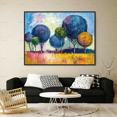 Abstract Tree Landscape Canvas Painting Wall Art Picture Poster Home Decor