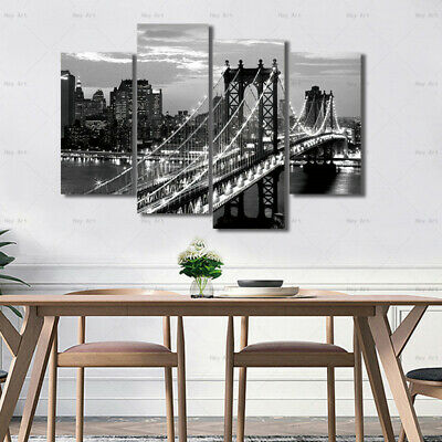 Brooklyn Bridge Canvas Painting Landscape Wall Art Picture Poster Home Decor