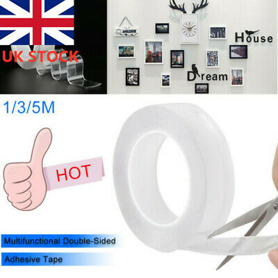 Double-sided Grip Tape Traceless Washable Adhesive Gel Nano Invisible Tape UK P