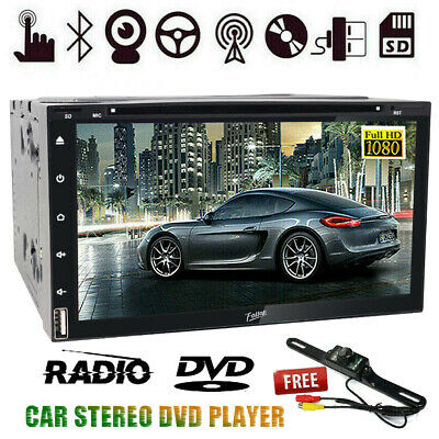 7 Inch Double 2DIN Car Stereo FM CD/DVD/MP5 Player Bluetooth Aux USB SD +Camera
