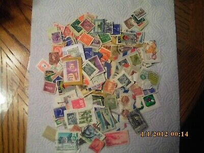 assortment of 140 cancelled foreign stamps