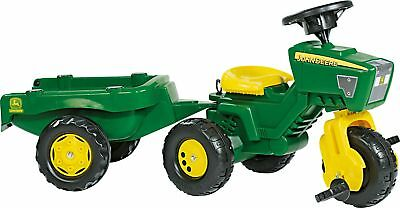 John Deere Trio Trac Child's Tractor and Trailer Ride On.