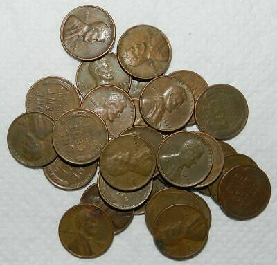 U.S.A.  30 X LINCOLN CENTS - 1940's & 1950's