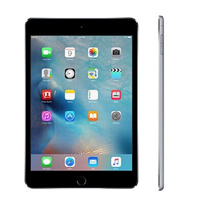 "7.9"" Apple iPad Mini 4 Wifi 16/32/64/128GB Unlocked Black & White & Gold Ios"