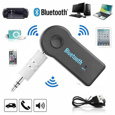 3.5mm Wireless Bluetooth AUX Audio Stereo Music Car Receiver Adapter with Mic UK