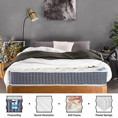 Pocket Sprung Mattress with Memory Foam and Breathable Knitted Fabric Noiseless