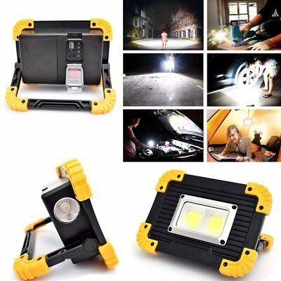 20W Waterproof COB LED Light Garden Car Fishing Work Lamp USB Port to Charge UK