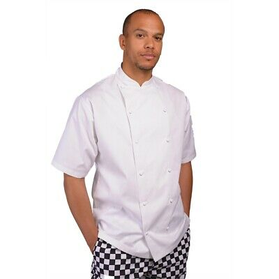 Le Chef Mens Executive S/s Chefs Jacket White 2xl