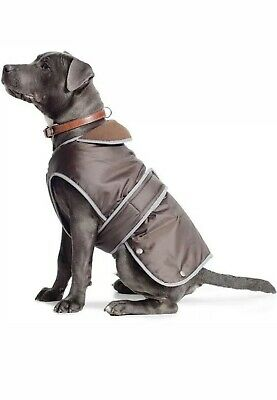 Dog Coat Chocolate Brown Stormguard (Ancol All weather, Waterproof, Size L