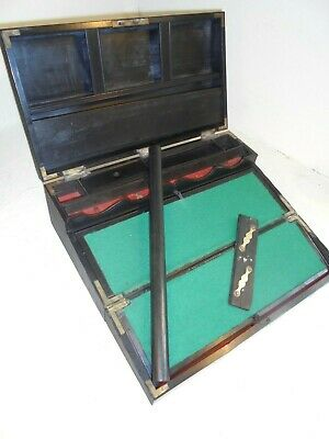 Antique Anglo Indian  Writing Slope Box , Secret Drawers