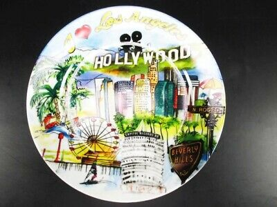 Los Angeles Hollywood Porzellan Teller USA in exclusiver Foto Gift Box,Plate