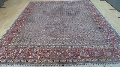 Very large Oriental RUG CARPET Hand made WOOL Traditional Persian 9ft 4 x 8ft 1