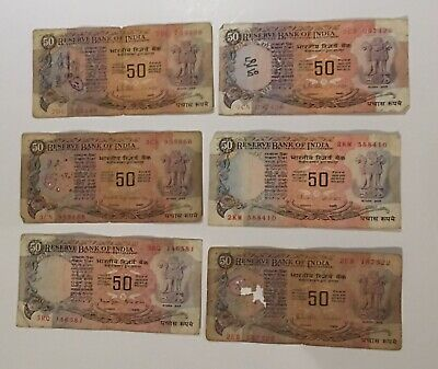 Old Indian 50 Rupee Notes