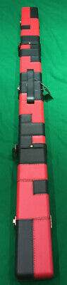 3/4 Snooker/Pool Cue Case. Black & Red. Seconds Quality