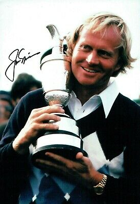 Jack NICKLAUS SIGNED Autograph 12x8 Rare Photo 1 AFTAL GOLF The Open Winner