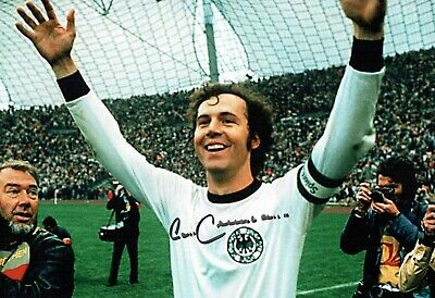 Franz BECKENBAUER SIGNED Autograph World Cup 12x8 West Germany Photo 1 AFTAL COA