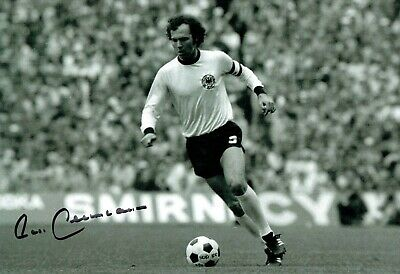 Franz BECKENBAUER SIGNED Autograph World Cup 12x8 West Germany Photo 3 AFTAL COA