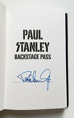 Paul Stanley of KISS REAL SIGNED 1st Ed. Backstage Pass book #1 COA Starchild