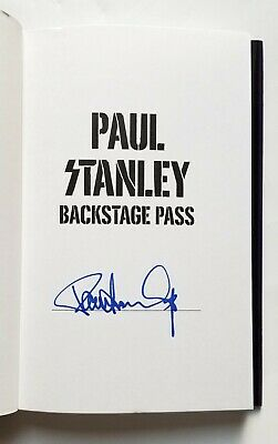 Paul Stanley of KISS REAL SIGNED 1st Ed. Backstage Pass book #2 COA Starchild