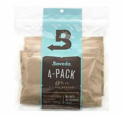 4 Pack, 69% Rh 2-Way Humidity Control, Large 60 g