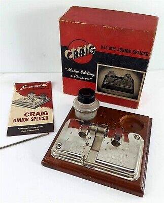 CRAIG Movie Supply Company Vintage 8mm -16mm Junior Splicer