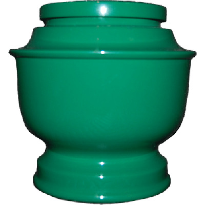 Green Spun Urn for Human Ashes - Adult, Large Cremation Memorial