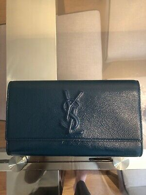 c15d084e42f YVES SAINT LAURENT Belle De Jour Patent Leather Clutch - $425.00 ...