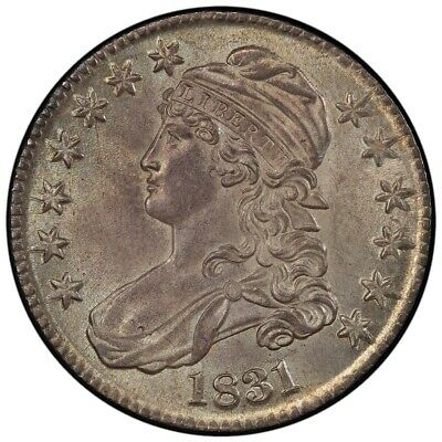 1831 50C Capped Bust Half Dollar PCGS MS64 (CAC)