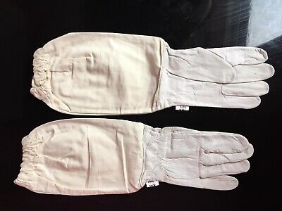 Beekeepers White Soft Leather Gloves - Size Small