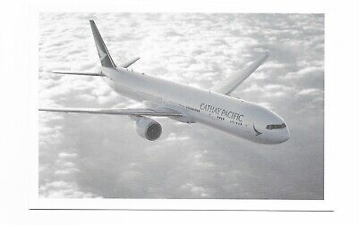Cathay Pacific Hong Kong airline issue 777 - 300 postcard -1