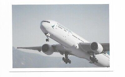 Cathay Pacific Hong Kong airline issue 777 - 300 postcard  -4