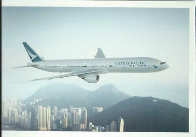 Cathay Pacific Hong Kong airline issue 777 - 300 postcard  -5