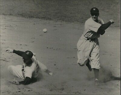 Later Printing Ted Williams of the Boston Red Sox Slides into Second vs Yankees