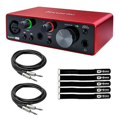 Focusrite SCARLETT SOLO 3rd Gen USB Audio Interface w Pro Tools First & Cables