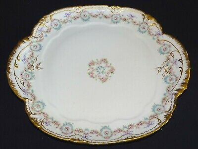Theodore Haviland Limoges France Schleiger 330 Handled Cake Plate