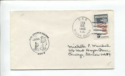 US Naval Ship Cover - USS SOUTHWIND WAGB-280 - 1965