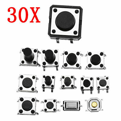 Total 360pcs Tactile Tact Mini Push Button Switch Packet Micro Switch Bags 12 Ty