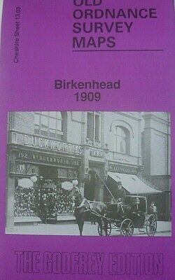 OLD Ordnance Survey Maps Birkenhead  Cheshire 1909  Godfrey Edition  New