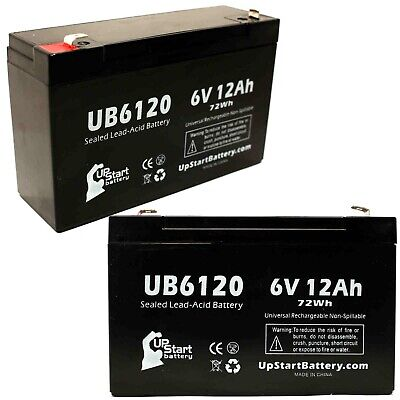 6 Pack Brand Product Mighty Max Battery 6V 12AH F2 Replacement Battery for Tripp Lite SMART750 UPS
