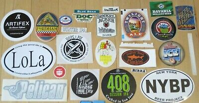 25 BEER STICKER PACK LOT decal craft beer brewing brewery tap handle 53