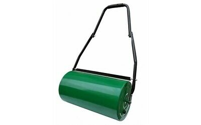Lawn Roller Garden Grass Outdoor Heavy Duty Steel Green Water Sand Filled 48L