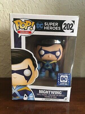 Funko Pop! DC Heroes Legion of Collectors Nightwing #202 Free Shipping!