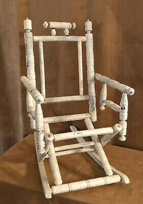 Vintage Child Eastlake rocking chair restoration project wood painted furniture