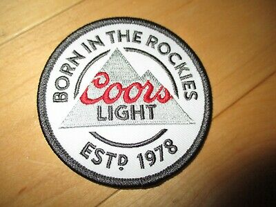 COORS LIGHT circle Logo embroidered iron-on PATCH craft beer brewery brewing