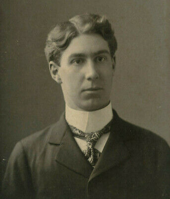 Antique Photo Cabinet Card HANDSOME YOUNG MAN FASHION by PACH BROS N Y