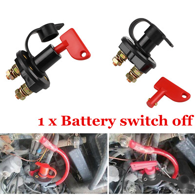 1x Battery Isolator Disconnect Cut OFF Power Kill Anti Theft Switch Fit Car Van