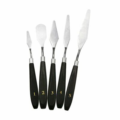 5PCS Painting Knife Set Palette Knife Stainless Steel Spatula Kit for Artist KM