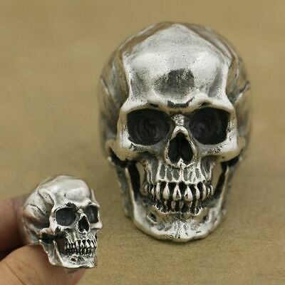 Heavy Men's Skull Stainless Steel Ring Gothic Vintage Fashion Jewelry Size 7-14