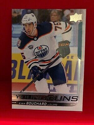 2018-19 Upper Deck Series 1 - Young Guns - Evan Bouchard Card #221